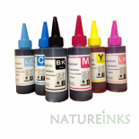 6 Natureinks Premium Dye Based Bottles Set ( 600ml )